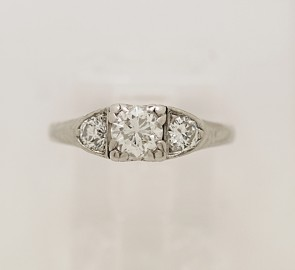 Engagement-Ring-Diamond-Platinum-Art-Deco