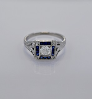 33-ct-diamond-sapphire-platinum-art-deco-engagement-ring
