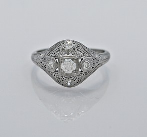 Ring-18K-White-Gold-Art-Deco-Diamond