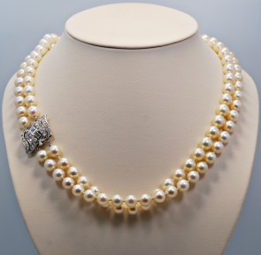 Pearl-Double-Strand-Vintage-Necklace